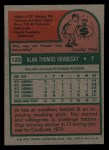 1975 Topps Mini #122  Al Hrabosky  Back Thumbnail