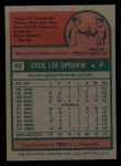1975 Topps Mini #92  Cecil Upshaw  Back Thumbnail