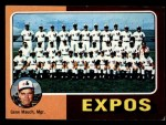 1975 Topps Mini #101   -  Gene Mauch Expos Team Checklist Front Thumbnail