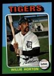 1975 Topps Mini #66  Willie Horton  Front Thumbnail