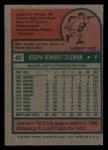 1975 Topps Mini #42  Joe Coleman  Back Thumbnail