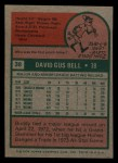 1975 Topps Mini #38  Buddy Bell  Back Thumbnail