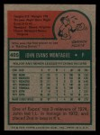 1975 Topps Mini #405  John Montague  Back Thumbnail