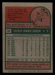 1975 Topps Mini #44  Pat Dobson  Back Thumbnail