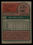1975 Topps Mini #73  J.R. Richard  Back Thumbnail