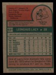 1975 Topps Mini #631  Lee Lacy  Back Thumbnail