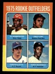 1975 Topps Mini #622   -  Fred Lynn / Ed Armbrister / Tom Poquette / Terry Whitfield Rookie Outfielders Front Thumbnail