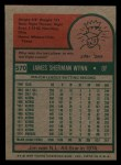 1975 Topps Mini #570  Jim Wynn  Back Thumbnail