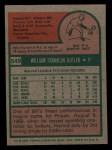 1975 Topps Mini #549  Bill Butler  Back Thumbnail