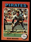 1975 Topps Mini #536  Bob Moose  Front Thumbnail