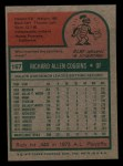 1975 Topps Mini #167  Rich Coggins  Back Thumbnail