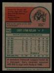 1975 Topps Mini #562  Gary Nolan  Back Thumbnail