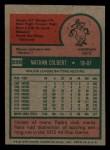 1975 Topps Mini #599  Nate Colbert  Back Thumbnail