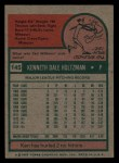 1975 Topps Mini #145  Ken Holtzman  Back Thumbnail