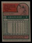 1975 Topps Mini #484  Glenn Beckert  Back Thumbnail