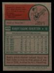 1975 Topps Mini #409  Bob Robertson  Back Thumbnail