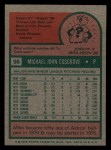 1975 Topps Mini #96  Mike Cosgrove  Back Thumbnail