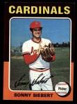 1975 Topps Mini #328  Sonny Siebert  Front Thumbnail