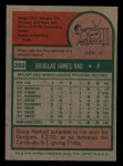1975 Topps Mini #269  Doug Rau  Back Thumbnail