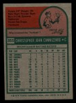 1975 Topps Mini #355  Chris Cannizzaro  Back Thumbnail