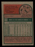 1975 Topps Mini #515  Manny Sanguillen  Back Thumbnail