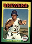 1975 Topps Mini #408  Clyde Wright  Front Thumbnail