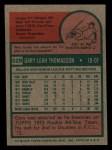 1975 Topps Mini #529  Gary Thomasson  Back Thumbnail