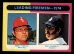 1975 Topps Mini #313   -  Mike Marshall / Terry Forster Leading Firemen Front Thumbnail
