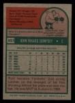 1975 Topps Mini #451  Rick Dempsey  Back Thumbnail