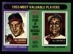 1975 Topps Mini #191   -  Al Rosen / Roy Campanella 1953 MVPs Front Thumbnail