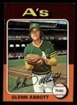 1975 Topps Mini #591  Glenn Abbott  Front Thumbnail
