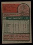 1975 Topps Mini #429  Jim Dwyer  Back Thumbnail