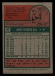 1975 Topps Mini #89  Jim Ray  Back Thumbnail