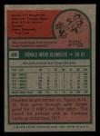 1975 Topps Mini #68  Ron Blomberg  Back Thumbnail