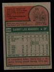 1975 Topps Mini #240  Garry Maddox  Back Thumbnail