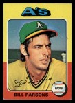 1975 Topps Mini #613  Bill Parsons  Front Thumbnail