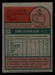 1975 Topps Mini #521  Dennis Blair  Back Thumbnail