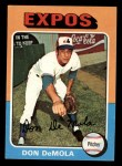 1975 Topps Mini #391  Don DeMola  Front Thumbnail