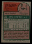 1975 Topps Mini #326  Wayne Twitchell  Back Thumbnail