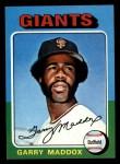 1975 Topps Mini #240  Garry Maddox  Front Thumbnail