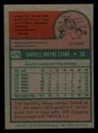 1975 Topps Mini #475  Darrell Evans  Back Thumbnail