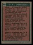 1975 Topps Mini #460   N.L. Championships Back Thumbnail