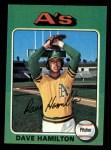 1975 Topps Mini #428  Dave Hamilton  Front Thumbnail