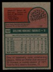 1975 Topps Mini #162  Willie Montanez  Back Thumbnail
