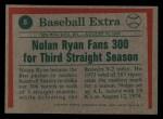 1975 Topps Mini #5  Nolan Ryan  Back Thumbnail