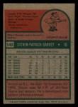 1975 Topps Mini #140  Steve Garvey  Back Thumbnail