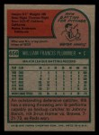 1975 Topps Mini #656  Bill Plummer  Back Thumbnail