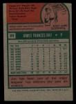1975 Topps Mini #89  Jim Ray  Back Thumbnail