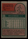 1975 Topps Mini #651  John Morlan  Back Thumbnail