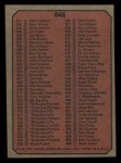 1975 Topps Mini #646   Checklist Back Thumbnail